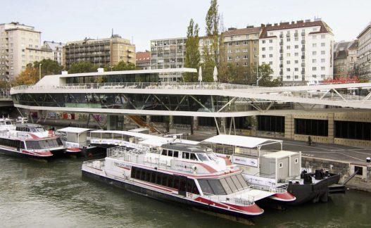 Stahlbaupreis für Schiffsstation Wien City
