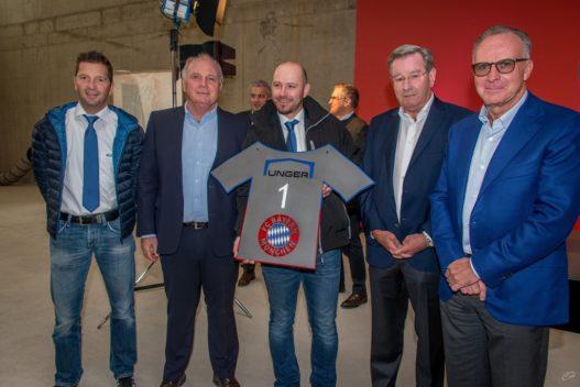 Vertreter der Unger Gruppe bei FC Bayern München