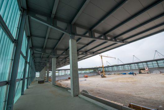Stahlbau für Tribüne FC Bayern München