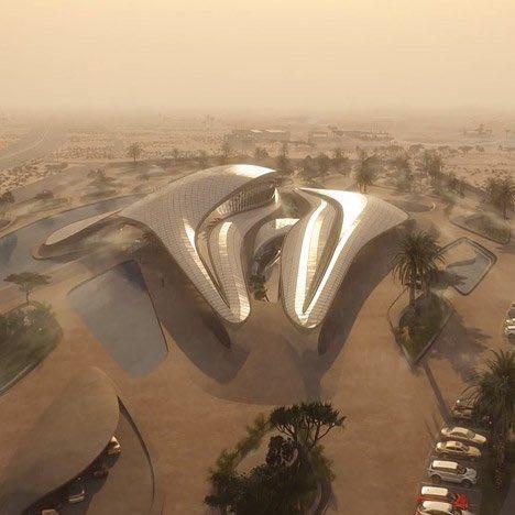 Bee'ah Hauptsitz in Sharjah Visualisierung