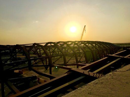 Stahlelemente für Bee'ah Hauptsitz in Sharjah