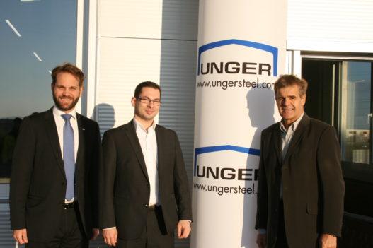 Vertreter der Unger Steel Group bei Post Zustellbasis Eisenstadt