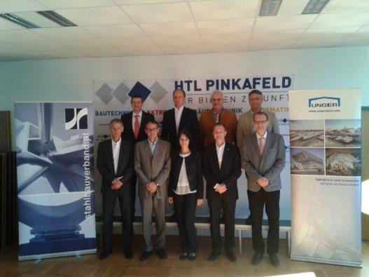 Vertreter der Unger Steel Group beim Stahlbautag der HTL Pinkafeld