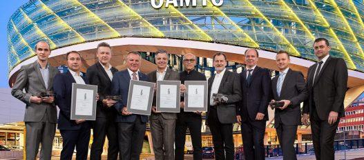 Unger Steel Team bei Preisverleihung des europäischen Stahlbaupreises