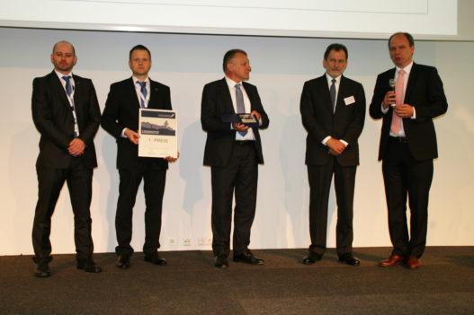 Unger Steel Team bei Preisverleihung des österreichischen Stahlbaupreis 2017